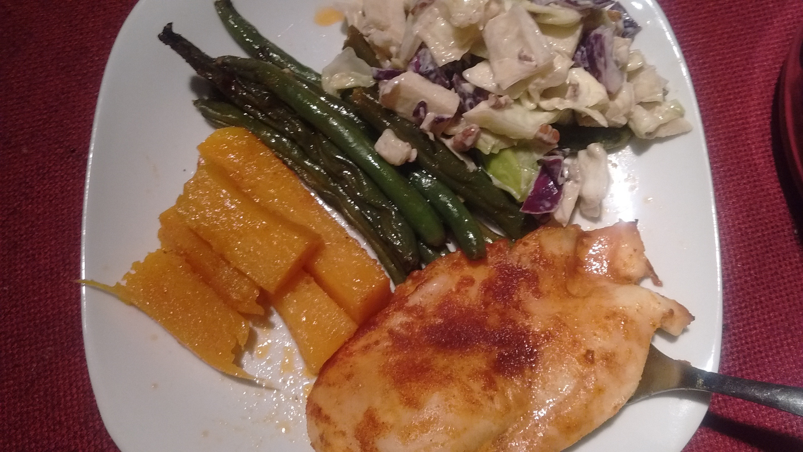 one pan chicken, green beans and butternut squash.jpg