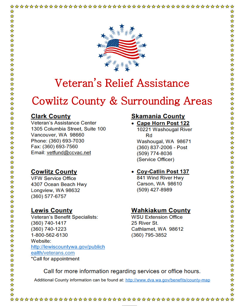 Cowlitz county wa official website veterans relief veterans assistance flyerg 1betcityfo Choice Image