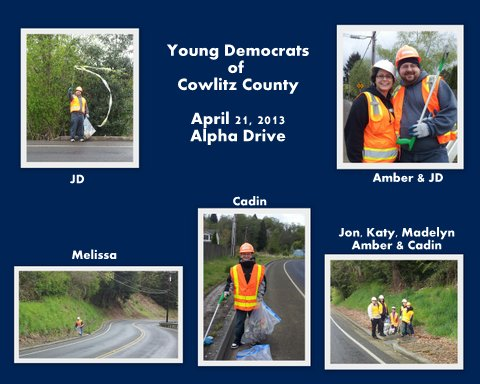 Young Democrats Adopt-a-Road Event